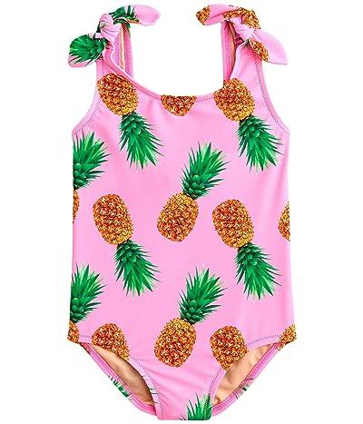 crewcuts by J.Crew Tie-Shoulder One-Piece Swimsuit (Toddler/Little Kids/Big Kids) (Neon Pink) Girl