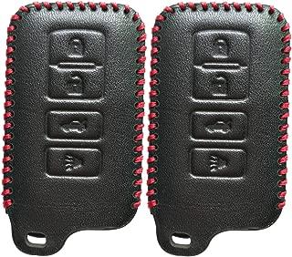 2Pcs Coolbestda Smart Key Fob Case Cover Keyless Entry Holder Skin Jacket for 2019 2018 2017 Toyota Highlander Avalon Camry Corolla RAV4 HYQ14FBA