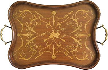 Maitland-Smith 8123-25 Inlaid Mahogany Tray ~ New