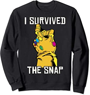 Marvel Thanos Gauntlet I Survived The Snap Graphic Fleece
