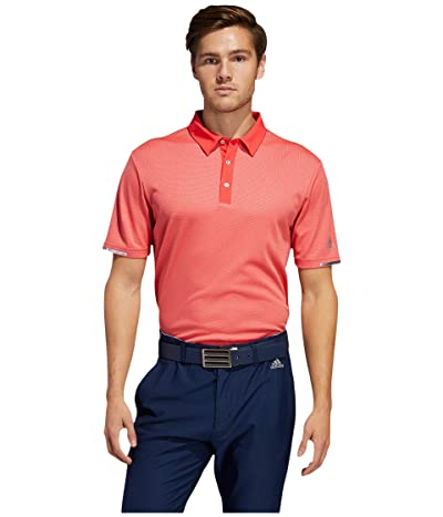 adidas Golf Heat.Rdy Base Polo Shirt (Real Coral Melange) Men