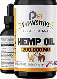 Sponsored Ad - Pet Pawsitive - Hemp Oil for Dogs and Cats - Made in USA - Max Potency - Calming Aid - Separation Anxiety, ...