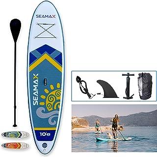 بسته Seamax SeaDancer 108 SUP بادی ، ابعاد L10'8ft x W32 x T6 ، آبی یا نارنجی