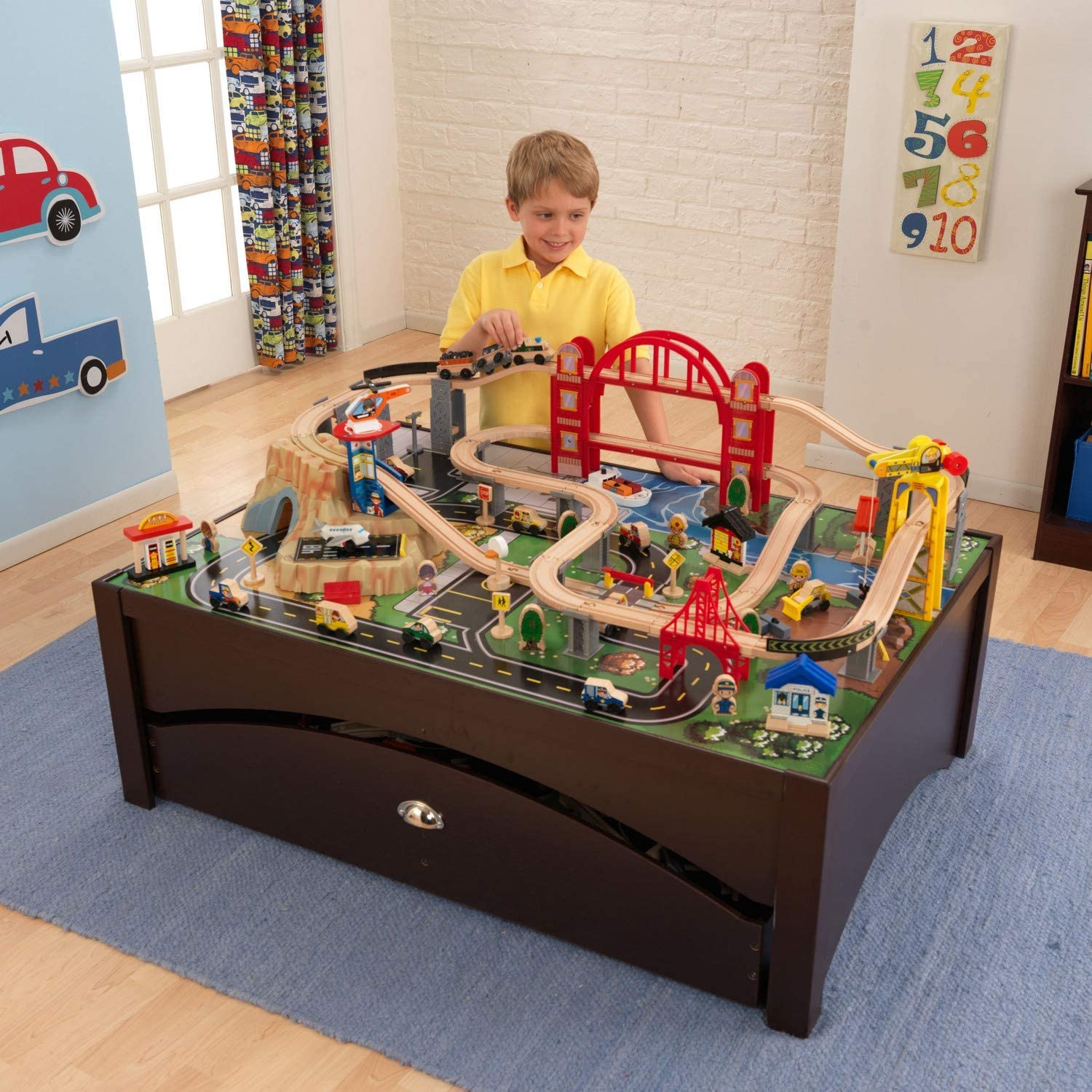 KidKraft Metropolis High quality new Train New Shipping Free Shipping Table and Set