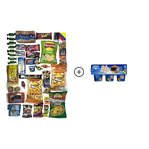 Colombian Snacks Sampler Variety Box - Cookies, Chips & Candies Assortment Pack - Delicious Gift