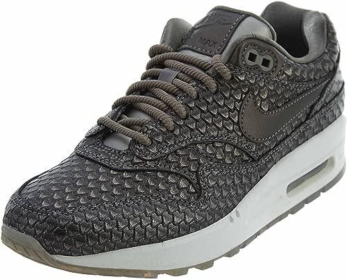 Nike Air Max 1 Premium Women's Running Shoes Metallic Pewter/Metallic Pewter 454746-015