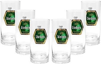 6 St/ück transparent mit F/üllstrich bei 0,3l Bierstange Arcoroc ARC 59776 Geo Altbierbecher Glas 370 ml Bierglas
