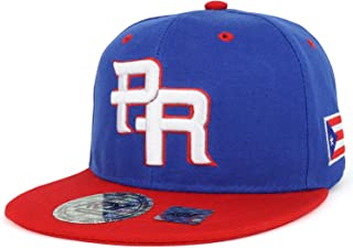 f6402235d72 Trendy Apparel Shop PR 3D Embroidered Flatbill Snapback Cap with Puerto  Rico Flag