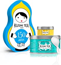 (KUSMI TEA) クスミティー ウェルネス ドール with ティースプーン ギフトセット [正規輸入品]