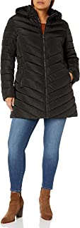 Nanette Lepore Women's Plus Size Long Puffer Coat