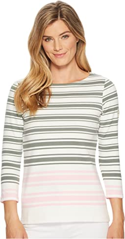 Joules - Harbourhemblk Printed Jersey Top