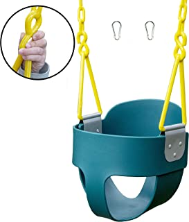Squirrel Products High Back Full Bucket Toddler Swing with Exclusive Chain & Triangle..