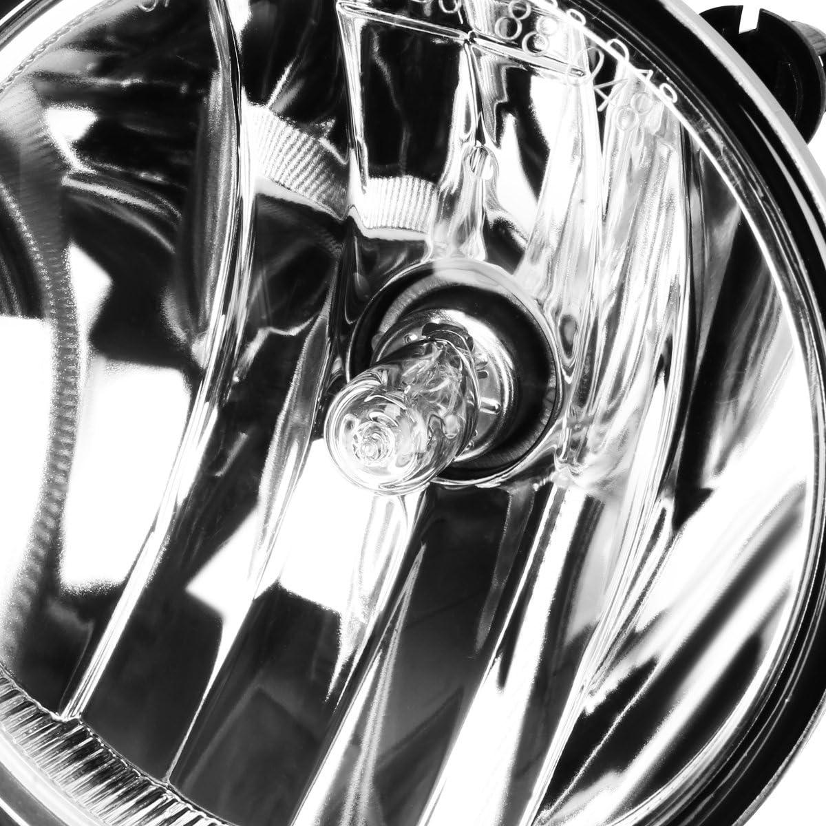 Driver /& Passenger Side DNA Motoring FL-T027-SM Fog Light Assembly