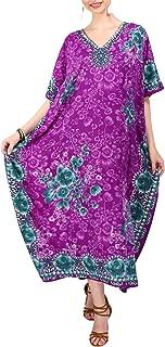 Miss Lavish London Women Kaftan Tunic Kimono Free Size Long Maxi Party Dress for Loungewear Holidays Nightwear Beach Everyday Cover Up Dresses