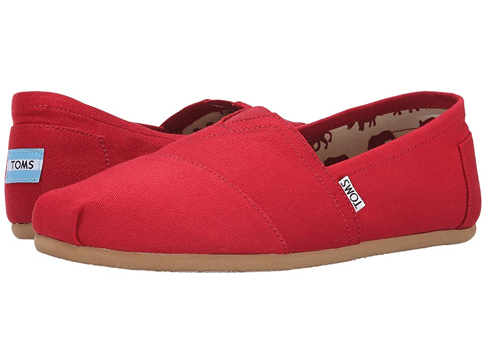 TOMS Classic Canvas (Red) Men