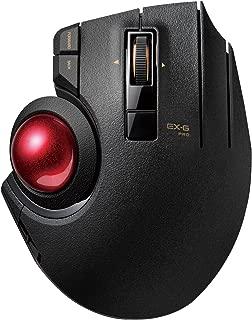 エレコム マウス 有線/ワイヤレス/Bluetooth トラックボール 親指 8ボタン チルト機能 ブラック M-XPT1MRXBK