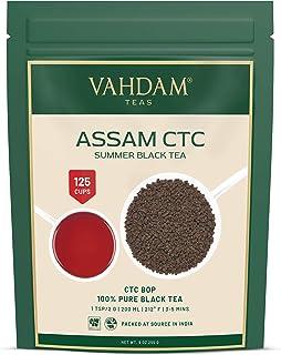 VAHDAM, Assam CTC Schwarzer Tee Loses Blatt 100 Tassen| Stark, Mutig & Reich Assam Tee Loose Leaf | 100% PURE Assam Chai Tee | ALLTAG ASSAM MILCHTEE | Brauen Sie als heißen Tee oder Latte| 255gr