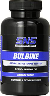 Bulbine Capsules by Serious Nutrition Solution SNS - Prolensis Bulbine Natalensis - all Natural Testosterone Booster, 350 MG, 60 Count