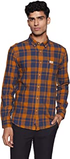 US Polo Men's Checkered Slim Fit Casual Shirt