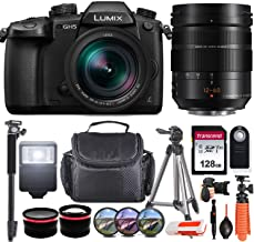 $1999 » Panasonic Lumix DC-GH5 Mirrorless Micro Four Thirds Digital Camera with Leica DG 12-60mm F2.8 Lens USA Model incl. Transcend 128GB Memory Card, Digital Slave Flash, Tripods, Remote & More