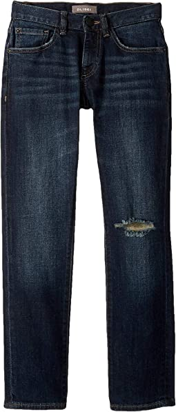 Brady Dark Vintage Wash with Distressing Slim Leg in O.G. (Big Kids)