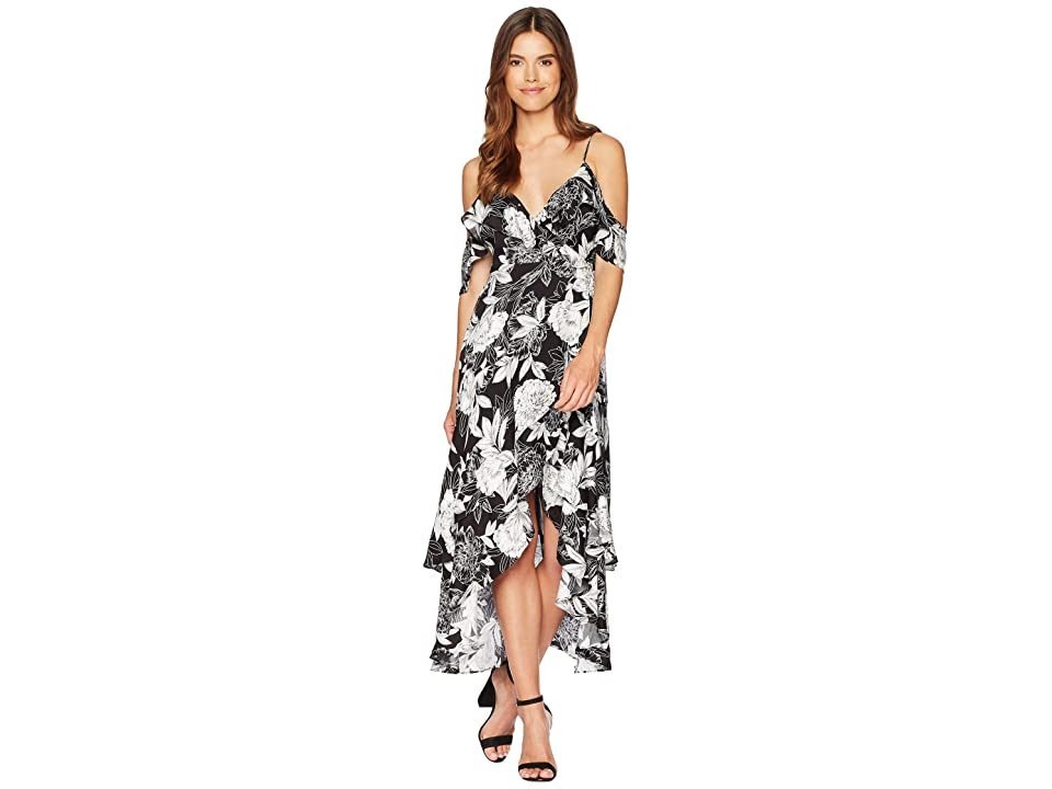 Bardot Frankie Frill Dress (Ink Floral) Women