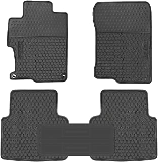 HD-Mart Car Rubber Floor Mat for Honda Accord 9th Generation 2017-2016-2015-2014 Custom Fit Full Black Auto Liner Mats All Weather, Heavy Duty & Odorless