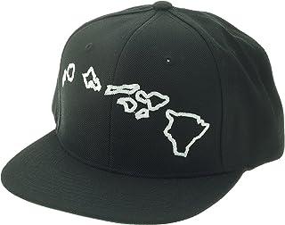 Route 99 Hawaii White Embroidery on Black Hawaiian Islands Snapback Trucker Hat  Baseball Cap 7e8a0a82031d