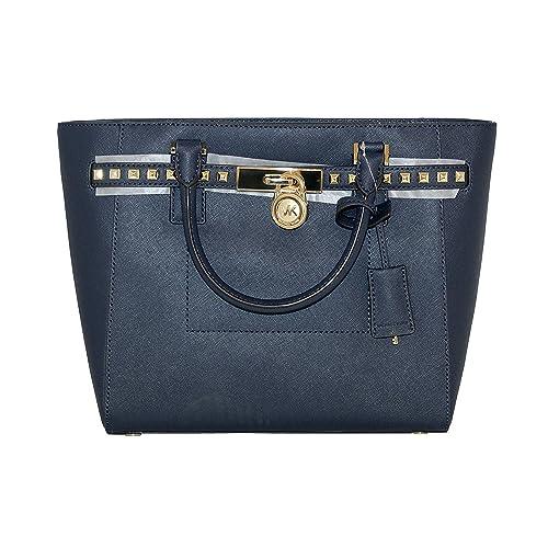 efc84a784e62 MICHAEL Michael Kors Women s Hamilton Traveler STUDDED Large TOTE Leather  Handbag