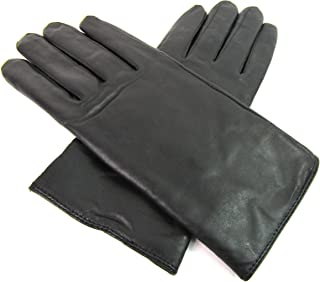 The Leather Emporium Ladies Genuine Black Leather Gloves Fully Lined Winter