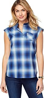 Pendleton Women's Jane Wool Plaid Popover Shirt,