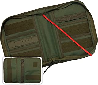 Military Style Medium Bible Cover & Organizer for Men - Personalize Your Camo Bible Case with Morale Patches That Reflect Your Beliefs. (OD Green)