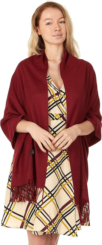 Cashmere & Class Large Soft Cozy Cashmere Pashmina Woven Scarf Wrap Womans Warm Shawl Stole+ Gift Box