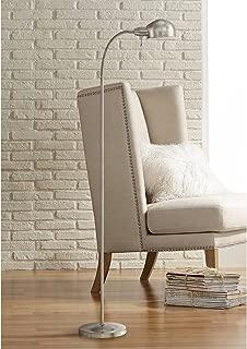 Ridley Modern Gooseneck Floor Lamp Tall Satin Nickel Adjustable Arm for Living Room..