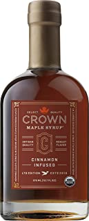 Crown Maple Organic Maple Syrup, Cinnamon Infused, 12.7 Fluid Ounce