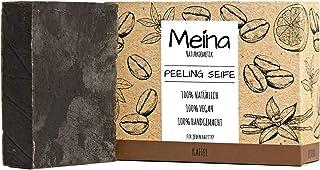 Meina Naturkosmetik - Scrub Seife mit Kaffee, Peeling bio Naturseife - Palmölfrei, Natürlich, Vegan, Handgemacht 1 x 100 g