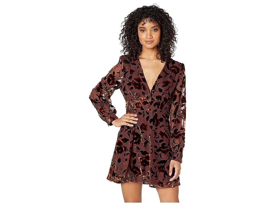 ASTR the Label Vivian Dress (Golden Rust Floral) Women