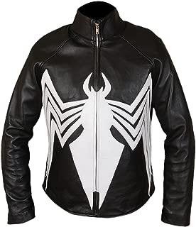 F&H Men's Genuine Leather Amazing Spider-Man Venom Spiderman Jacket
