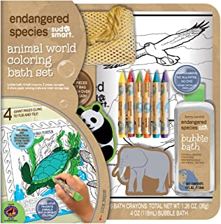 Endangered Species by Sud Smart Animal World Coloring Bath Set
