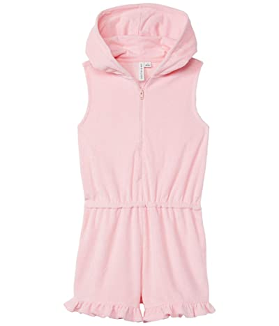 Janie and Jack Hooded Swim Cover-Up (Toddler/Little Kids/Big Kids) (Pink) Girl