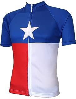 Men's Short Sleeve Texas Flag Cycling Jersey - Biking Shirt for Bike