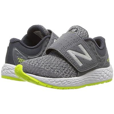 New Balance Kids KVZNTv4I (Infant/Toddler) (Gunmetal/Hi-Lite) Boys Shoes
