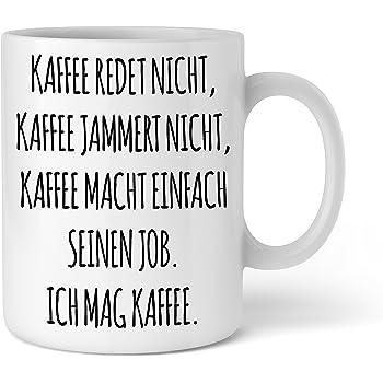 TASSE Kaffeetasse SHUT UP SQUAT  Spruch Zitat