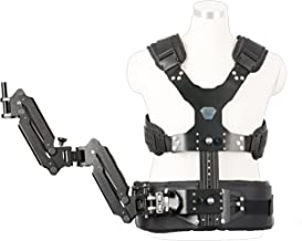 Movo MC50 Deluxe Vest and Dual Articulating Arm for Handheld Video Stabilizer Systems with 12mm or 15mm Handle Ports - Includes System Carrying Case