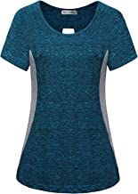 MISS FORTUNE Yoga Tops Color Block Active Workout Shirt