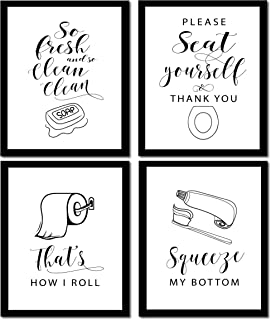 Lilly and the Bee Novelties Wow Your Walls Bathroom Prints - Set of 4