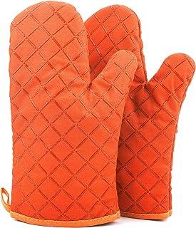 ATUIO - rękawice kuchenne, odporne na wysokie temperatury, pogrubiane rękawiczki, do pieczenia [1 para], rękawice kuchenne...