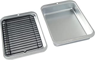 Nordic Ware 3 Piece Naturals Compact Grill and Bake Set, Silver