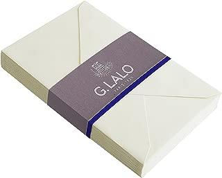 G. Lalo 90 x 140 mm Verge de France Envelopes, Gummed and Lined, Ivory, Pack of 20