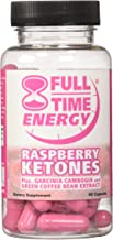 Full-Time Energy Pure Raspberry Ketones plus Garcinia Cambogia and Green Coffee Bean Extract Complete Complex - Lose Weight and Burn Fat With This Extreme Weight Loss Formula - Diet Pills - The Best Natural Fat Burners - Weight Loss Supplements That Works Fast for Women and Men